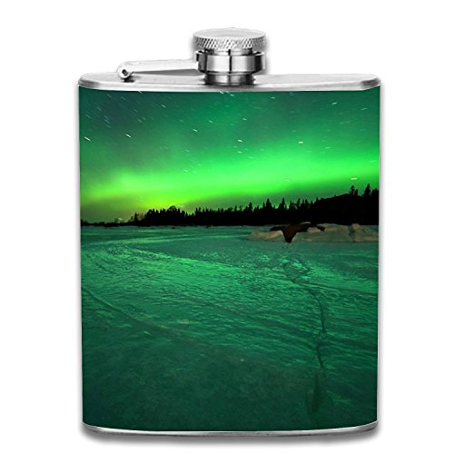 The Auroras Portable 7oz Stainless Steel Hip Flask Alcohol Flagon