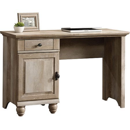 Crossmill Country Style Pencil Drawer and Adjustable shelf Home/Office Desk, Weathered