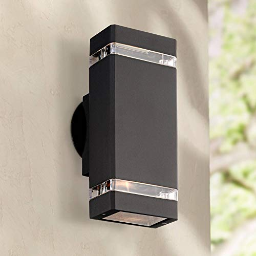 Skyridge Modern Outdoor Wall Light Fixture Black 10 1/2