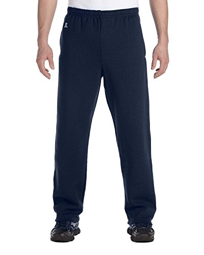 Russell Athletic Dri-Power Open-Bottom Fleece Pocket Pant, Large, J NAVY