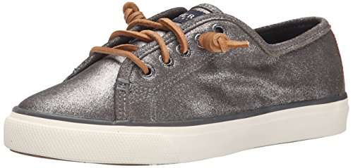Sperry Trainers Shoes Womens Seacoast Leather Metallic Grey vgwqrFvy