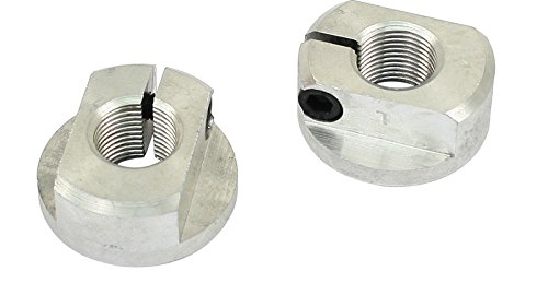 EMPI 9616 Link Pin Billet Aluminum Spindle Nuts w/ Built on Thrust Washer & Allen Screws - VW Dune Buggy Bug Ghia Baja (Mfg Sales Billet)