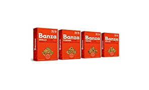 Banza Chickpea Pasta, Variety Case, Shells/Elbows/Penne/Rotini 8 OZ(Pack of 6)