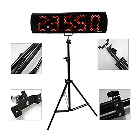 5 6Digits Large LED Countdown Timer Sport Running Event Timer With Remote And Tripod Stand