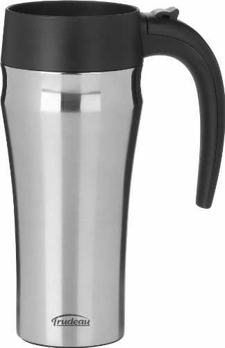 - Trudeau Maison Journey Travel Mug, 16 oz, Stainless Steel