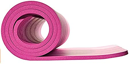 1//2 Half inch Thick Exercise Mat Eco Friendly TPE Non Slip Double Sided Fitness Exercise Mat with Carrying Strap GymSurge Yoga Mat