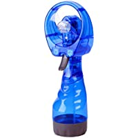Highpot Water Spray Misting Fan New Portable Hand held Cooling Mist Travel Beach Water-misting Fan (Blue)