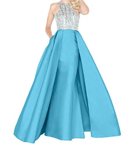 Hochwertig Schnitt Schmaler Partykleder Braut mia Blau Abendkleider Promkleider Etuikleider Lang Satin Neu Festlichkleider La EqPFAa