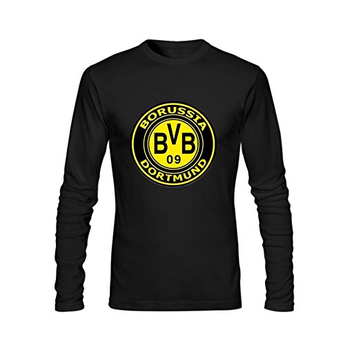 Cetrade Men's DIY Borussia Dortmund BVB 09 Logo tshirt,100% Cotton T-Shirt L Black