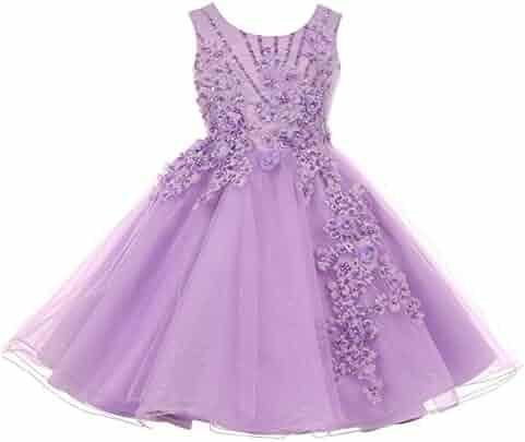 b0565986e58 Cinderella Couture Big Girls Lavender Pearl Beaded Glitter Tulle Junior  Bridesmaid Dress 8-12