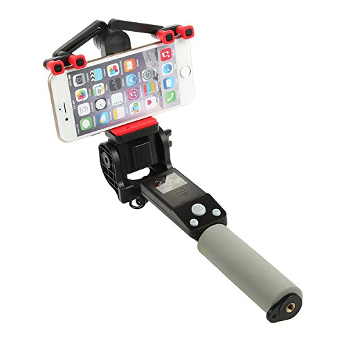Price comparison product image Wansong Automation Rotation Selfie Stick - 360 degree angle Adjustable,Self-portrait Monopod Extendable Wireless Bluetooth,Adjustable Phone Holder for Iphone 6s 6 5 5s,Iphone 6 Plus,Android - Black