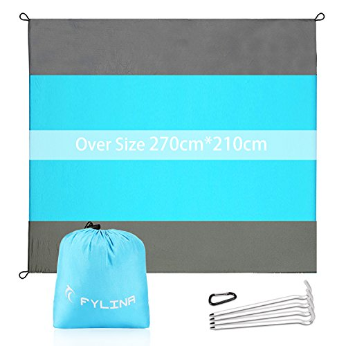 FYLINA Sand Free Beach Blanket Quick Drying Ripstop