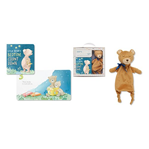 C.R. Gibson Bedtime Little Bear Board Book and Stuffed Teddy Bear Gift Set