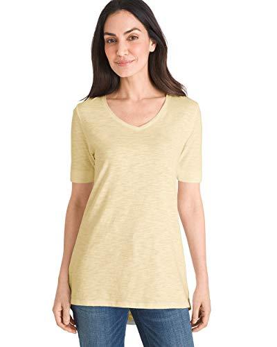 Chico's Women's Short Sleeve V-Neck Slub Tee, Golden Haze, 16/18 - XL (3)