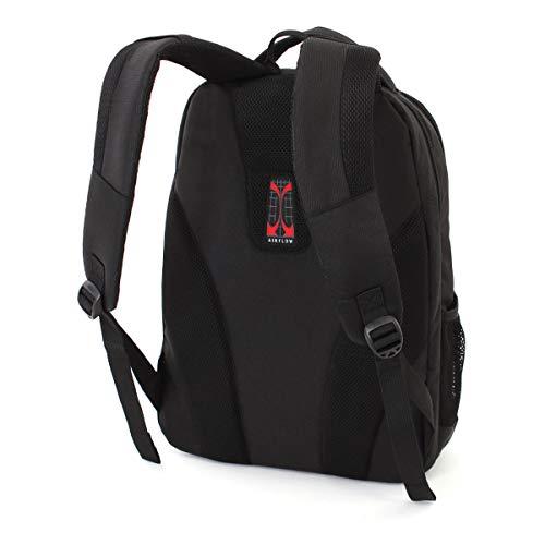 SWISSGEAR Large, Padded, ScanSmart 15-inch Laptop Backpack   TSA-Friendly Carry-on   Travel, Work, School   Men's and Women's - Black by Swiss Gear (Image #1)
