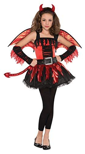 Amscan Girls Daredevil Costume - Medium (8-10), Multicolor