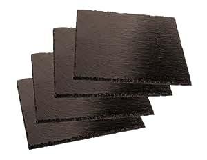 Aps 41585-10 - Set de 4 platos cuadrados de pizarra (10 x 10 cm)