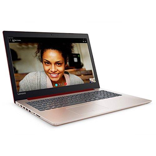 Lenovo Ideapad 320 15.6 inch HD Flagship Premium Laptop PC, Intel Celeron N3350 Dual-Core, 4GB RAM, 128GB SSD, Bluetooth 4.1, WIFI, DVD RW, Ethernet, Windows 10 Home (Red)