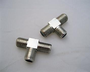 T del adaptador del divisor CONECTOR F antena parabólica T ...
