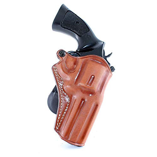 Masc Premium Leather Paddle Holster Open Top Fits Ruger SP-101 327 Federal Magnum 4.20