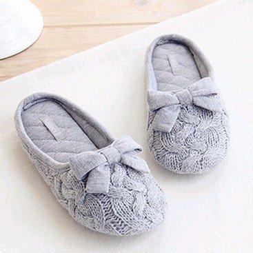 HH Tricot laine arc pantoufle calme intérieur anti-dérapant chez les femmes de pantoufles Office Home