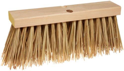 (Weiler 70208 Palmyra Fiber Street Broom with Wood Block, Natural Fill, 2-1/2