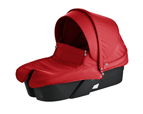 Stokke Xplory Black Carry Cot, Red