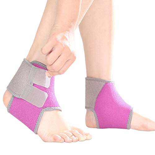Fisstina 1 Pair Adjustable Ankle Brace,Kids Elastic Ankle Support with Open Heel Brace Design, Lightweight, Breathable,Nonslip,Ankle Guard for Running Basketball Football Volleyball Dance Yoga