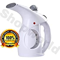 Shopworld® Portable Handheld Garment Wrinkle SteamerSteamer for Family Fabric Steam Brush, Facial Steamer, Facial Steamer for Face and Nose, Steamer for Cold and Cough (Multicolour)