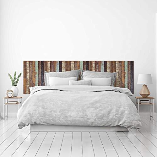 MEGADECOR Cabecero Cama PVC Decorativo Economico Textura de Tablas Distintos Colores Envejecidas Varias Medidas (150 cm x 60 cm)