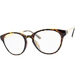 Eight Tokyo (Japan Import) B082-17 Women's UV Cut Wellington Type Clear Lens Sunglasses Amber