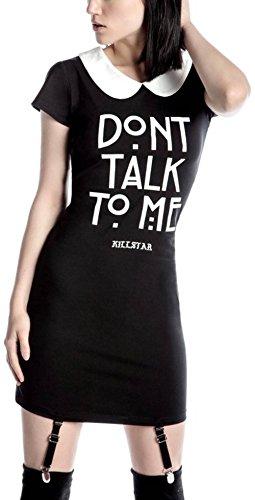 schwarz Schwarz Suspender Kleid STFU Dress Killstar UnvTw6Sq