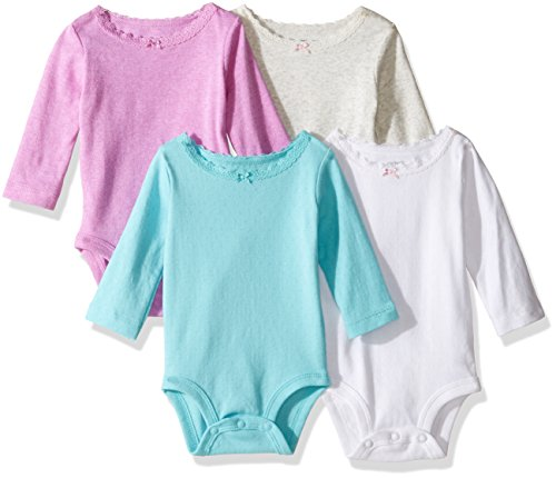 Carter's Baby Girls' Multi-Pk Bodysuits 126g337, Girl Heather, 3 (Wholesale Bodysuits)