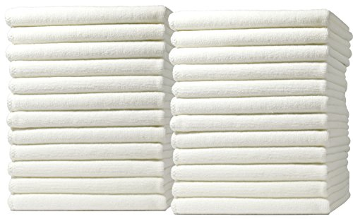 Royal Microfiber Cleaning Cloth Set - 24 Pack Heavy Duty, Double Stitched, UItra Soft Microfiber Towels (12x12 24-Pack)