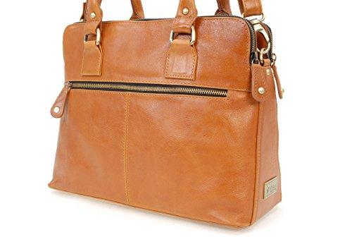 CATWALK COLLECTION - VICTORIA - Bolso de hombro estilo shopper - Cuero vintage Tostado