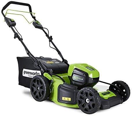 Greenworks Tools 2502907UC - Cortacésped inalámbrico (46 cm, 60 V, iones de litio, 2 baterías de 2 Ah y cargador)