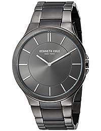 Kenneth Cole New York Men's KC9109 Slim Trip Grey IP Bracelet Watch