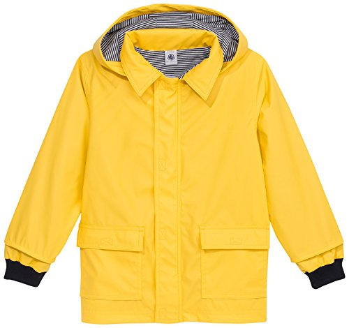 Petit Bateau Baby Girls' Rain Coat, Yellow, 24 Months