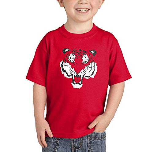 - Tiger Face - Fierce Spirit Animal Infant/Toddler Cotton Jersey T-Shirt (Red, 5T)