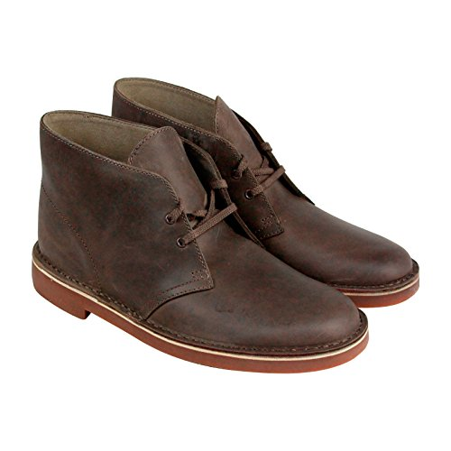 CLARKS Bushacre 2 Mens Gray Leather Casual Dress Lace Up Boots Shoes 8zSoYn