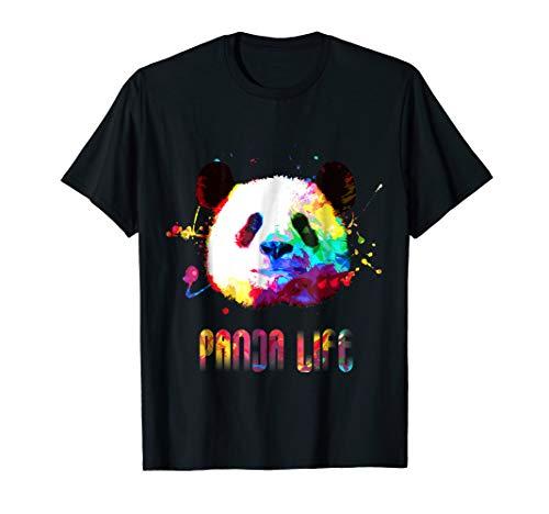 Panda Bear Life Rainbow Watercolor Bright Splatter - Beatnik Vibe