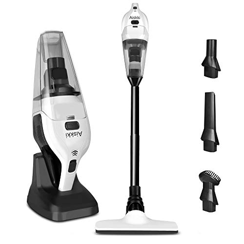 Handheld Vacuum Cleaner, Aiskki 2 in 1 Cordless Upright Vacuum Cleaner Handheld