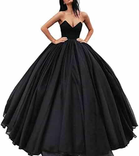 017c1aaefa5 Lnxianee Women s Sweetheart Ball Gowns Prom Dresses Long Quinceanera Dress