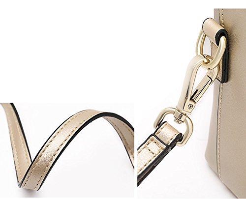Shoulder Women Multiple Bag Pockets Q0943 Soft Leather Gold Dissa Handbags YxqB5Iwv5