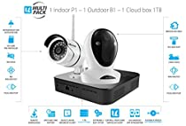 Vimtag Surveillance Kit - P1 Indoor Cam, B1 Outdoor Cam, 1TB Cloud Storage Box   Complete Wireless Security Solution