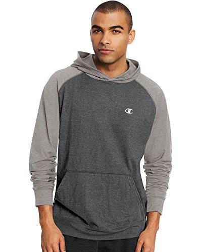 Champion Men's Vapor Cotton Pullover Hoodie, Granite Heather/Oxford Gray, Small
