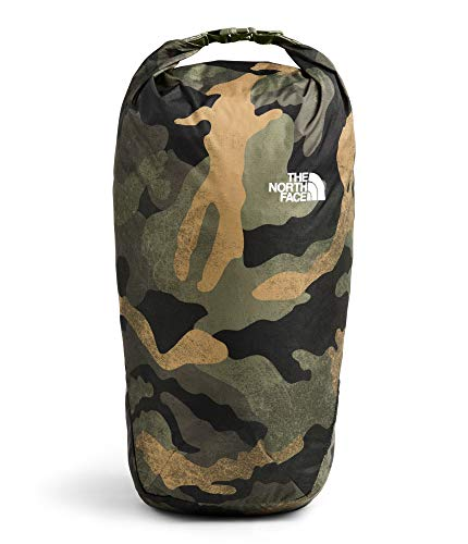 - The North Face Flyweight Rolltop, Burnt Olive Green Waxed Camo Print/Burnt Olive Green, OS