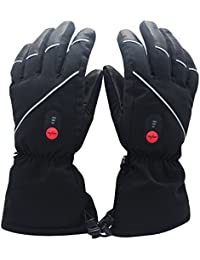 Heated Gloves with Rechargeable Li-ion Battery Heated for...
