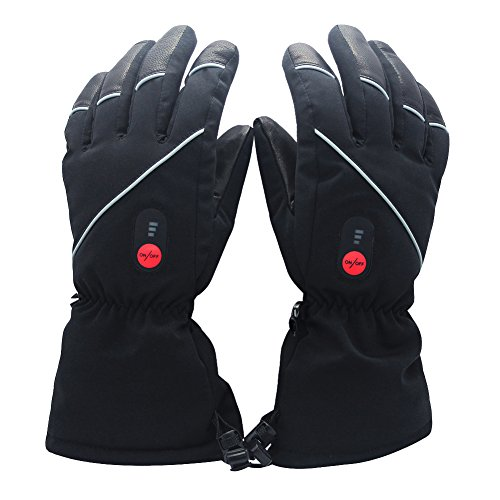 Savior Heated Gloves with Rechargeable Li-ion Battery Heated for Men and Women, Touchscreen Waterproof Warm Gloves for Cycling Motorcycle Hiking Skiing Mountaineering, Works up to 2.5-6 Hours(M)