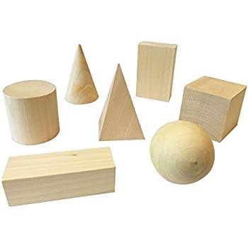 Amazon com: Learning Resources LER4298 Wood Geometric Solids